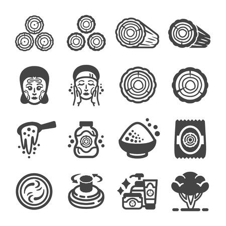 thanaka,tanaka icon set,vector and illustration