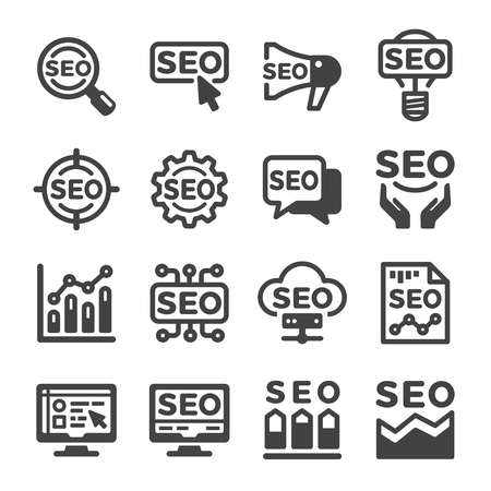 SEO icon set,vector and illustration Illustration