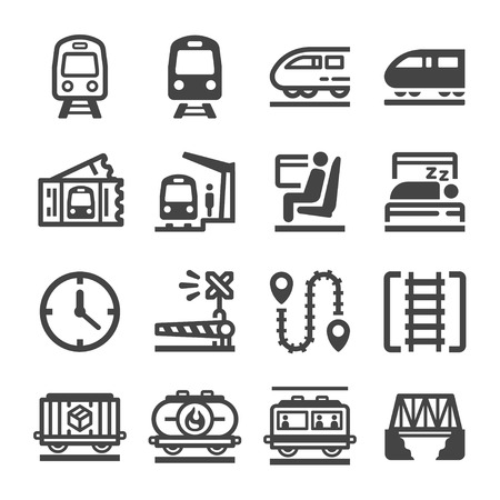 train icon set,vector and illustration Illustration
