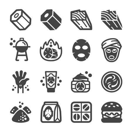 charcoal icon set,vector and illustration Illustration