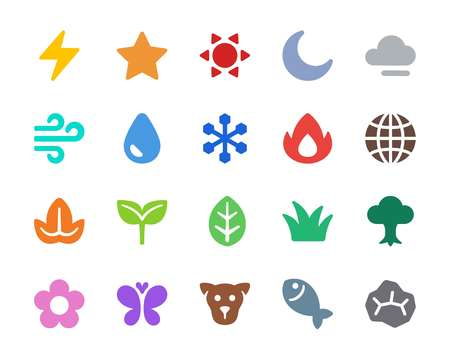 nature icon set,vector and illustration