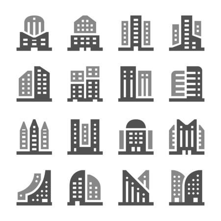 building and architecture icon set,vector and illustration