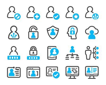 digital account icon set,vector and illustration Ilustração