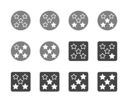 rating five star icon set,vector and illustration