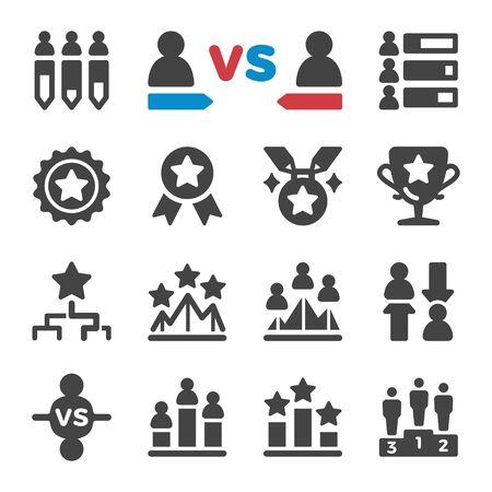 competition and challenge icon set,vector and illustration Ilustração