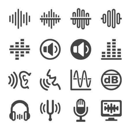 voice and sound icon set,vector and illustration Ilustração