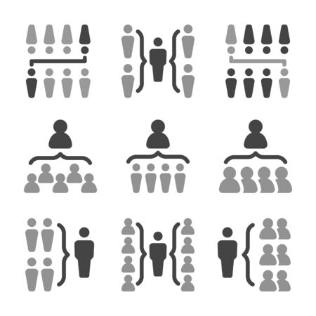 organization chart with people icon set,vector and illustration Banco de Imagens - 149575680