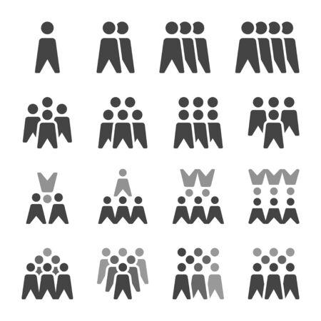 people icon set,vector and illustration Ilustração