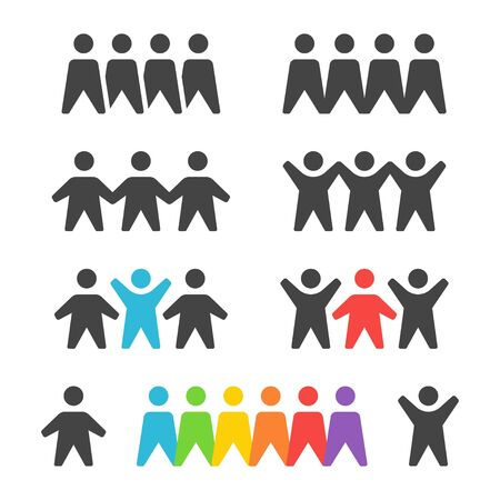 group and team icon set,vector and illustration Illustration