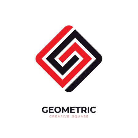 Creativity geometric logo design, Simple and professional square logo for business, company, identy, branding concept, vector logo idea, icon Logo