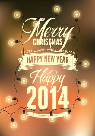 Merry Christmas   Happy New Year design  Vector illustration  Eps 10 Vector