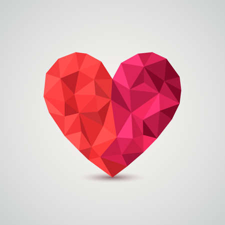 Origami heart  Vector Illustration  Vector