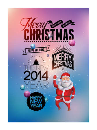 Merry Christmas and Happy New Year design  Vector illustration  Eps 10 Vector