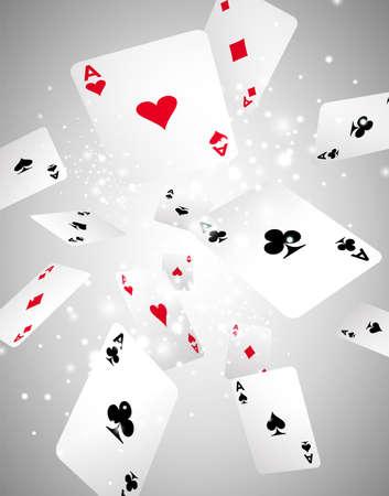 jeu de cartes: Vector Illustration des cartes de jeu volant