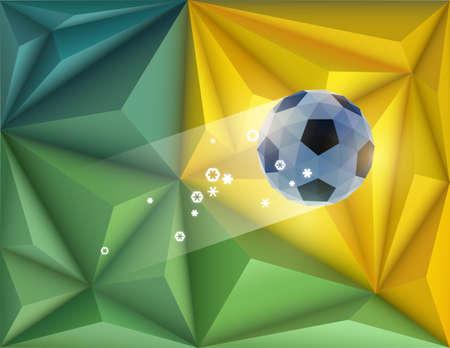 crumpled paper ball: Soccer vector design Illustration
