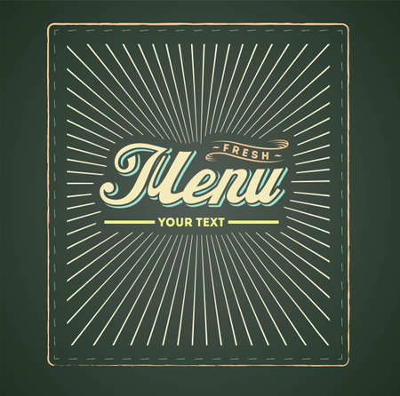 Cover of menu Vector