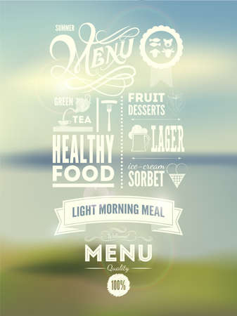 ice tea: Menu poster  Vector background