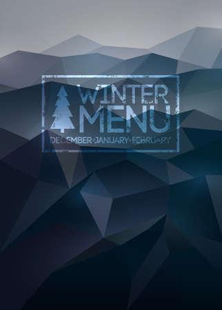 Menu poster  Vector background