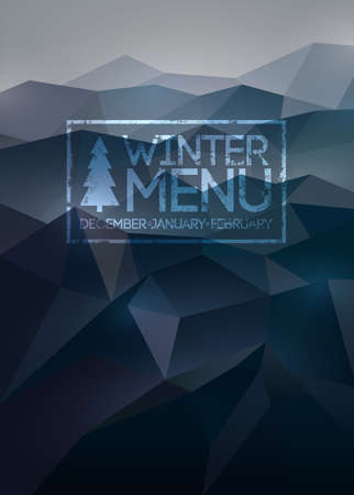Menu poster  Vector background  Vector