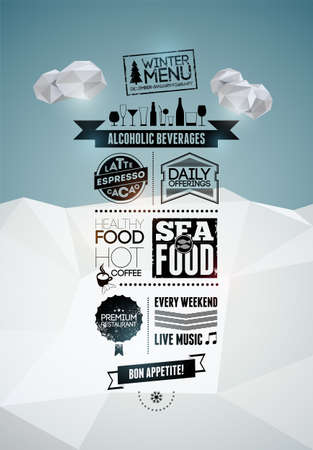 offerings: Menu poster  Vector background