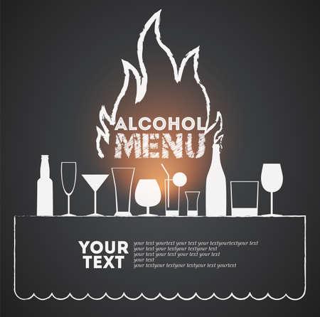 Cover of menu for brasserie  Vector illustration  Eps 10