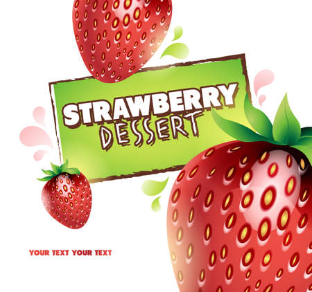 Strawberry background  Vector illustration for your design Vector