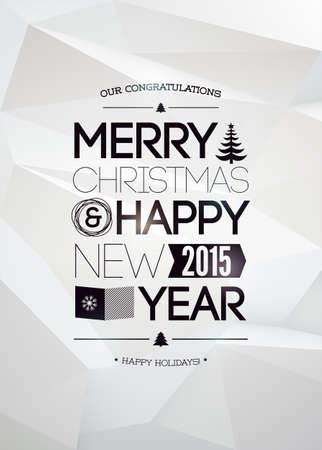 Merry Christmas & Happy New Year design. Illustration