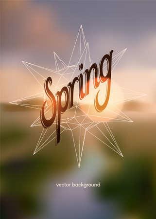Spring vector background Illustration