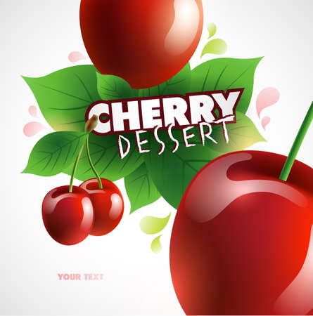 Cherry background. Vector illustration for your design