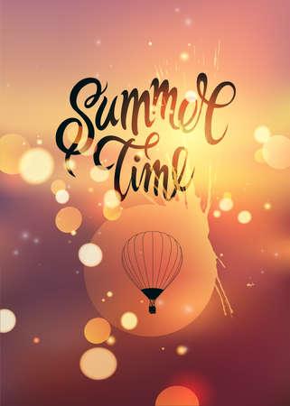 Summer time poster Illustration