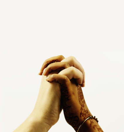 Human hands clasped together Stock Photo - 16043712