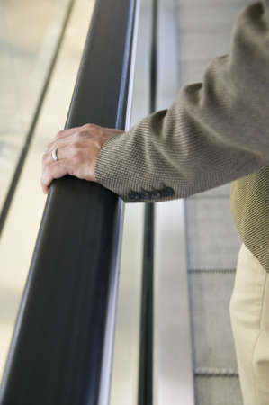 panache: Close-up of a businessmans hand on a railing LANG_EVOIMAGES
