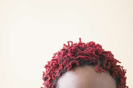 Close-up of the top of a young woman's red colored hair Stock Photo - 16043809