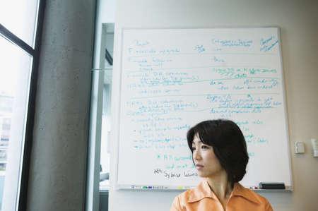 side profile: Profilo laterale di una donna d'affari
