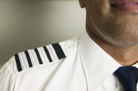 invariable: Close-up of the stripes of a pursers uniform