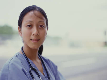 Portrait of a female nurse Stock Photo - 16044332