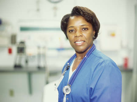 Portrait of a female doctor with a stethoscope around her neck Stock Photo - 16044354