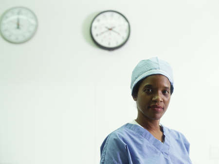 restfulness: Portrait of a female nurse