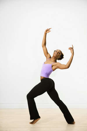tap dance: Young woman performing ballet
