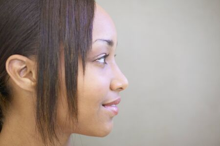 way of behaving: Side profile of a young woman