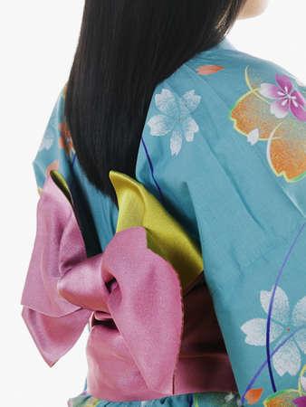 Rear view of young woman wearing a kimono Stock Photo - 16045093
