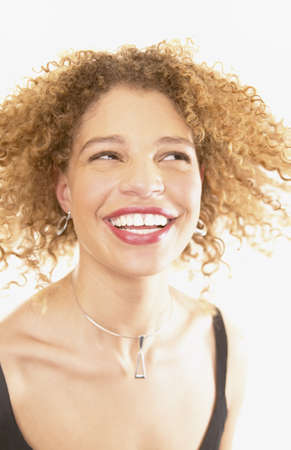 Young woman smiling Stock Photo - 16045542