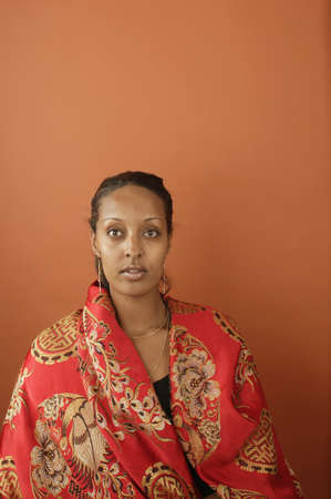 ethiopian ethnicity: Portrait of a young woman LANG_EVOIMAGES