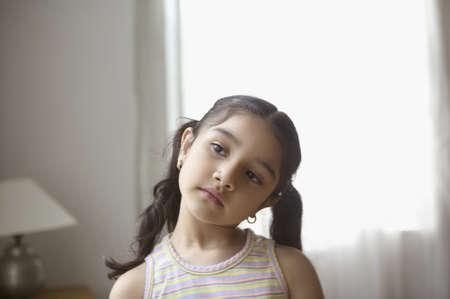 looking sideways: Girl looking sideways