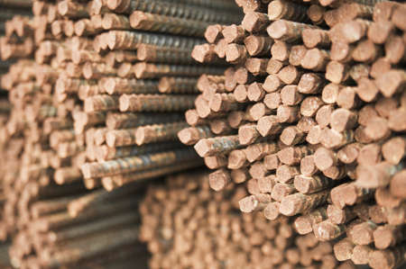 Stack of iron rods Stock Photo - 16046795