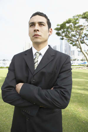 Close-up of a businessman standing with his arms crossed Stock Photo - 16046981