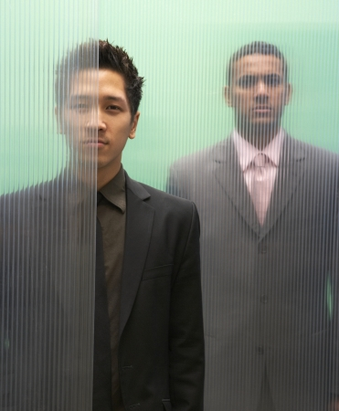 Portrait of two businessmen standing Stock Photo - 16047162