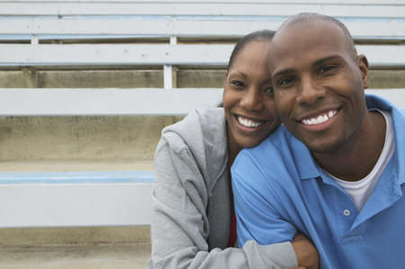 mid adult couple: Portrait of a mid adult couple smiling