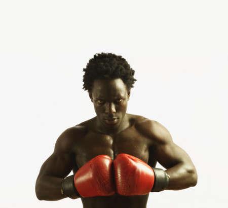 Boxer preparing to fight Stock Photo - 16070491