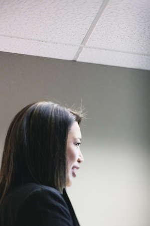 Profile of businesswoman speaking Stock Photo - 16043264